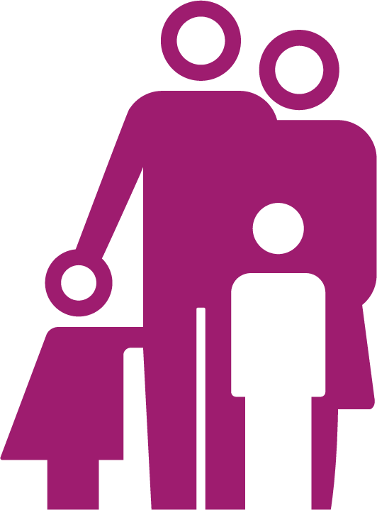 illustration of a (stereo)typical family unit