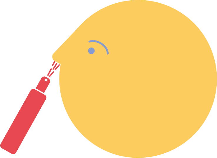 illustration of nasal spray